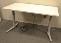 Skrivebord med elektrisk hevsenk fra Edsbyn, 140x80cm, NY PLATE / pent brukt