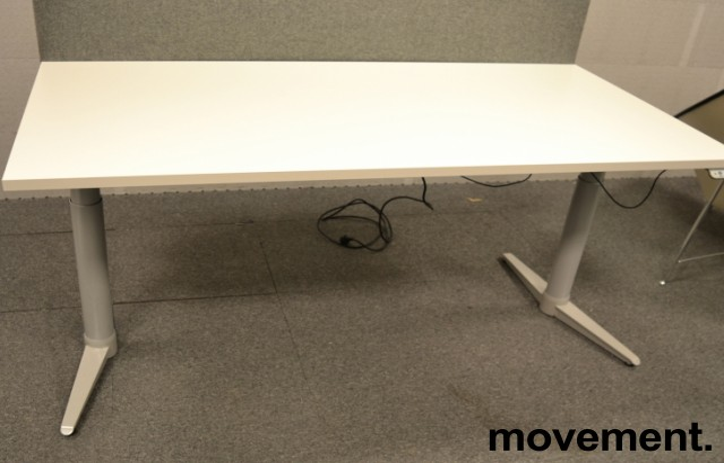 Skrivebord med elektrisk hevsenk fra Edsbyn, 160x80cm, NY PLATE / pent brukt bilde 1