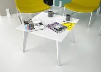 Loungebord / sofabord i hvitt, 70x70cm, høyde 45cm, NY / UBRUKT