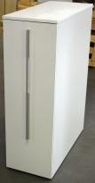 Tårnskap / towerskap fra Ragnars i hvitt, åpning mot høyre, 38,7B/88,2D/120H, pent brukt