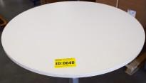 Bordplate i hvitt, rund bordplate, Ø=79,3cm 20mm tykkelse, brukt