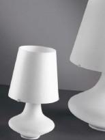 Bordlampe i hvitt glass fra Kreadesign, 88081 Alice / P, høyde 30cm, NY / UBRUKT