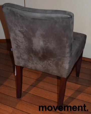 Restaurantstoler fra Satelliet i grå mikrofiber, pent brukt bilde 3