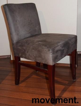 Restaurantstoler fra Satelliet i grå mikrofiber, pent brukt bilde 1