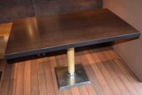 Kafebord med mørk bordplate, 120x70cm bordplate, 76,5cm høyde, pent brukt