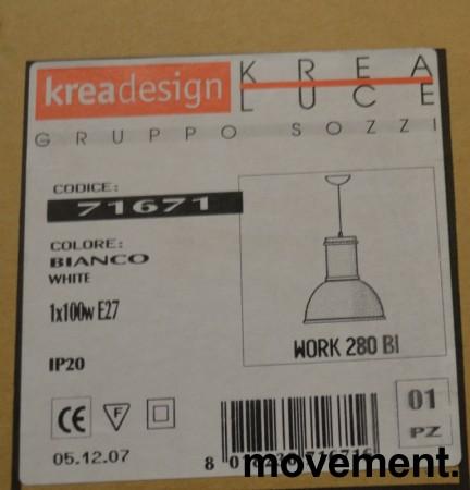 Kreadesign 71671 Work 280 BI taklampe / pendellampe i hvitt, Ø=28cm, NY / UBRUKT bilde 2
