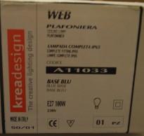 Taklampe / plafond fra KreaDesign, modell A11033 Web, blå, TR IP NY I ESKE