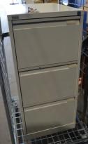 Arkivskap for hengemapper / folio fra Gerdmans, 3 skuffer, 47cm bredde, 105cm høyde, pent brukt
