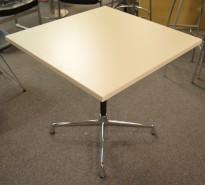 Lite møtebord / konferansebord Vitra / Eames segmented-serie, 75x75cm, pent brukt