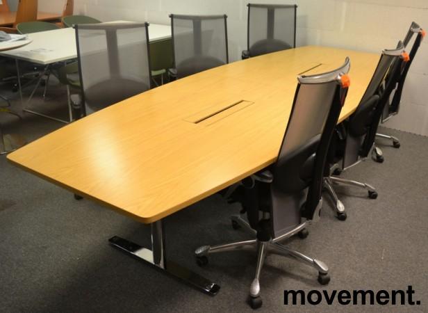 Møtebord fra Svenheim i eik / krom , 340x120cm, passer 10-12 personer, pent brukt bilde 4