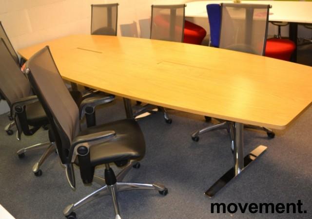 Møtebord fra Svenheim i eik / krom , 340x120cm, passer 10-12 personer, pent brukt bilde 3