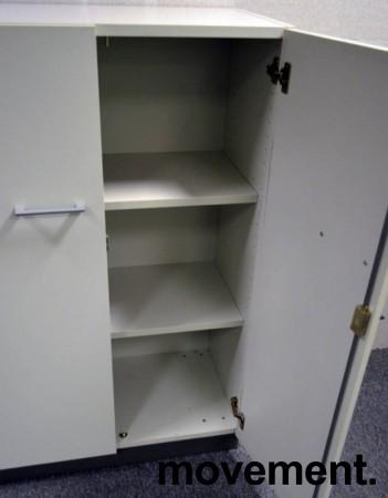Martela Combo ringpermreol med dører i lys grå,3H, 126 cm H, pent brukt bilde 2