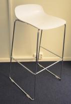 Duba B8 Molo barkrakk / barstol i hvitt / krom, design: Norway Says, sittehøyde 80cm, pent brukt
