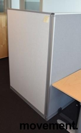Skillevegg fra Kinnarps, modell Rezon i lysegrått, 100cm bredde, 150cm høyde, pent brukt bilde 1
