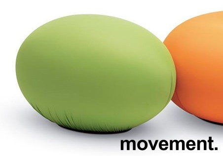 Morsom puff fra Baleri Italia, modell Tato i grønt stoff, pent brukt bilde 1