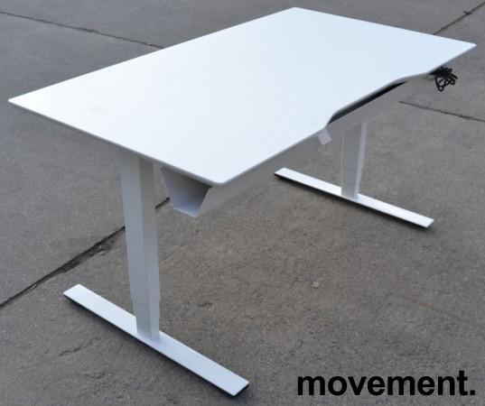 Dencon elektrisk hevsenk i hvitt, 140x80cm, pent brukt bilde 3