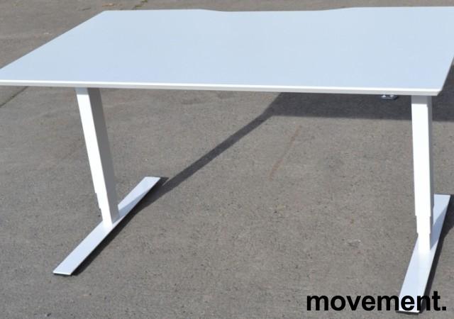 Dencon elektrisk hevsenk i hvitt, 140x80cm, pent brukt bilde 1