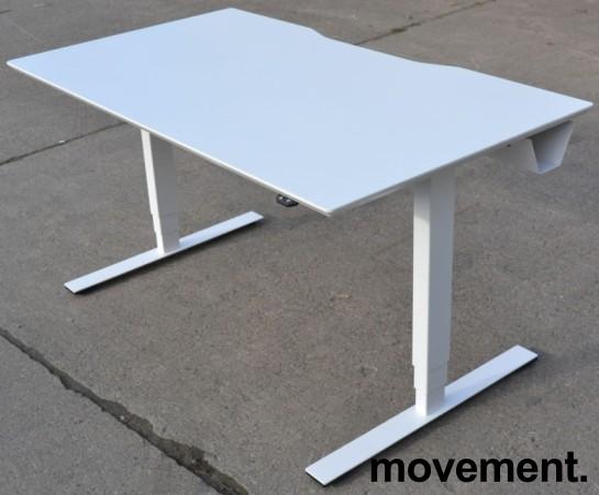 Dencon elektrisk hevsenk i hvitt, 140x80cm, pent brukt bilde 2