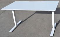 Dencon elektrisk hevsenk i hvitt, 140x80cm, pent brukt