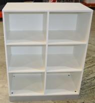 Duba B8 ringpermreol / bokhylle, hvitt, 117cm høyde, pent brukt