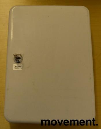 Nøkkelskap i stål med 45 knagger, hvitt,  25x19 cm, brukt bilde 1