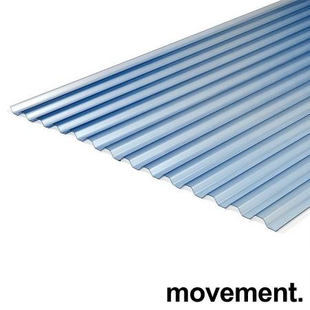 UV-bestandig plasttak laget i PVC-plast., 250x104cm, lett blåskjær / gjennomsiktig, ubrukt