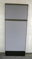 Kinnarps Zonit skillevegg i grått stoff, 60x150cm, NYTRUKKET