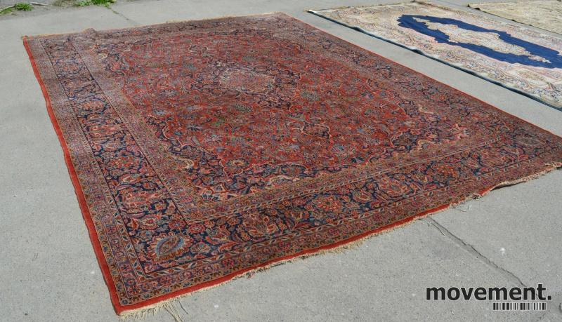 Ultra Stort persisk teppe i rødfarger,400x320cm, pent brukt PD-45