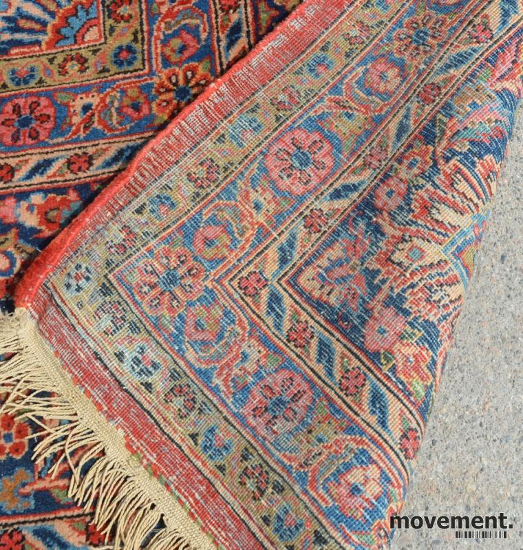 Kjempebra Stort persisk teppe i rødfarger,400x320cm, pent brukt PY-17