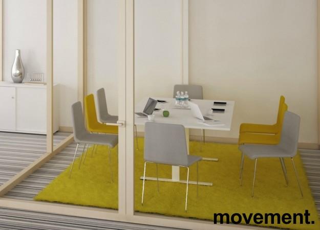 Møtebord i hvitt med kabelluke og kabelsamler, 200x120cm, passer 6-8personer, NY / UBRUKT bilde 2