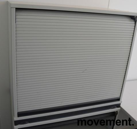 Lavt sjalusiskap printerskap i lys gråfra Kinnarps, hoyde 73cm, pent brukt