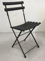 Sammenleggbar kafestol / utestol i sortlakkert metall fra EMU, Italia, Classic Collection, pent brukt