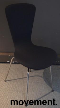 Variér Konferansestol Invite i sort stofftrekk / krom, design: Olav Eldøy, pent brukte bilde 1