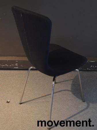 Variér Konferansestol Invite i sort stofftrekk / krom, design: Olav Eldøy, pent brukte bilde 2