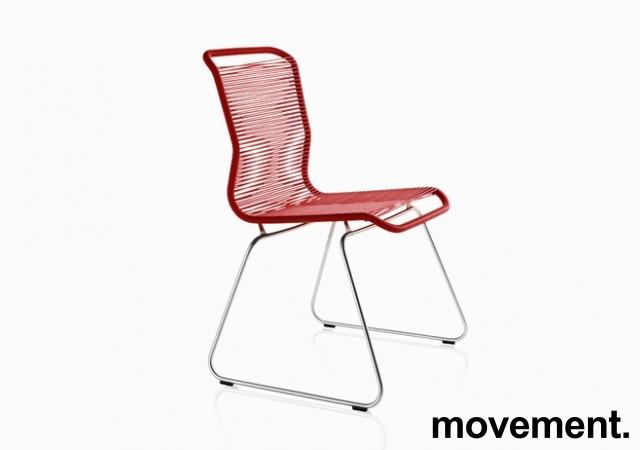 Tivolistol / Panton One fra Montana i rødt, design: Verner Panton, pent brukt bilde 1