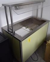 Varmedisk / buffetvogn / varmebad med overvarme, Rustfrie Bergh, 112,5cm bredde, pent brukt