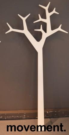 Swedese tree stumtjener forveggmontering i hvitt, hoyde 194cm, pent brukt