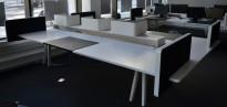 Vitra Joyn arbeidsbord i hvitt for 4 personer, 300x180 cm, pent brukt
