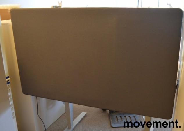 Bordskillevegg fra Götessons, ScreenIt A30, mørk grå med grønn glidelås, 140x80cm, pent brukt bilde 2