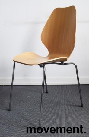 Designstol: ForaForm City i eik finer, norsk designklassiker i ny produksjon, pent brukt bilde 1