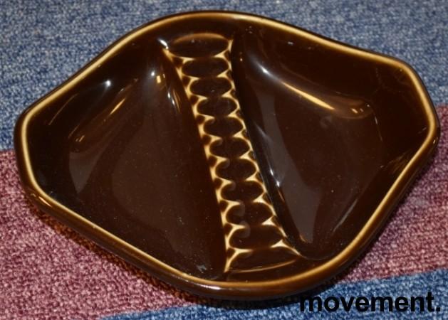 Porsgrund Porselen - Askebeger i brun lasur, fra 1969, pent brukt bilde 1