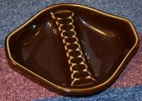 Porsgrund Porselen - Askebeger i brun lasur, fra 1969, pent brukt