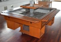 Salatdisk / kaldbuffet for kantine / buffetrestaurant, Tecfrigo, Italia, 172x172cm, pent brukt