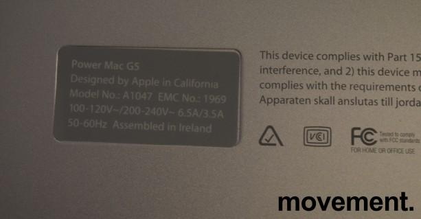 Apple Power Mac G5, PowerMac 7,2, G5 1,6/4GB/80GB/GeForce FX5200, A1047 EMC 1969, pent brukt bilde 7