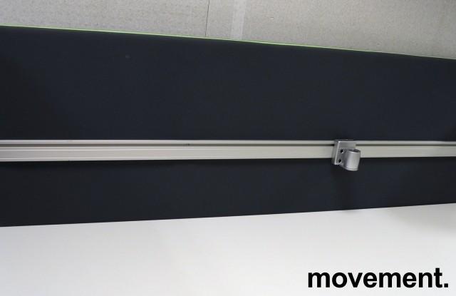 Bordskillevegg fra Götessons, ScreenIt A30, mørk grå med grønn glidelås, 180x80cm, pent brukt bilde 1