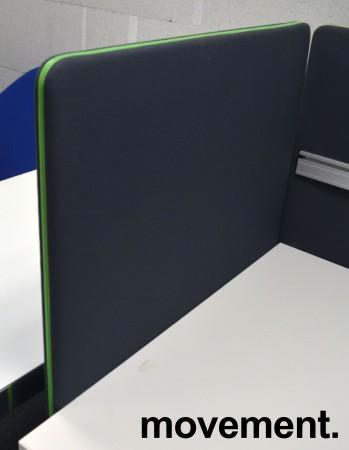 Bordskillevegg fra Götessons, ScreenIt A30, mørk grå med grønn glidelås, 80x80cm, pent brukt bilde 1
