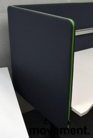 Bordskillevegg fra Götessons, ScreenIt A30, mørk grå med grønn glidelås, 80x80cm, pent brukt bilde 2