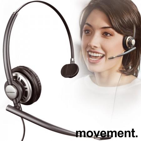 Plantronics EncorePro HW710 Mono Headset, hodetelefoner med mikrofon, pent brukt. bilde 1