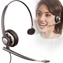 Plantronics EncorePro HW710 Mono Headset, hodetelefoner med mikrofon, pent brukt.
