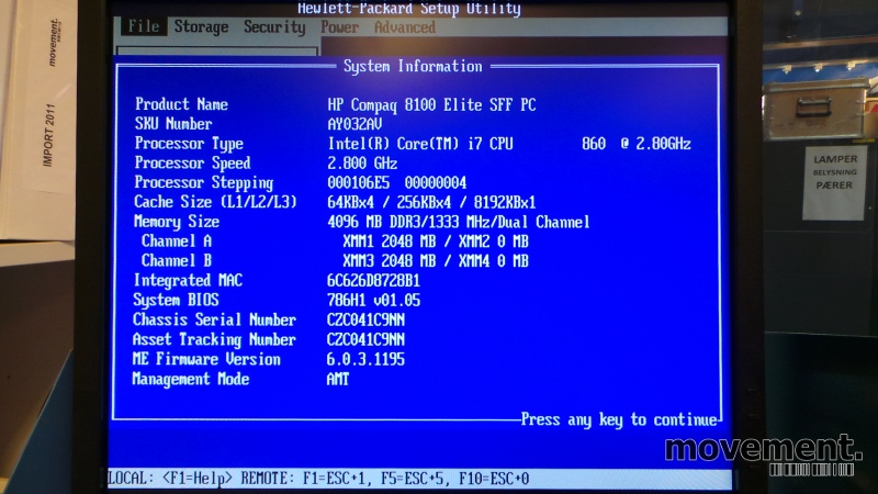 Hp Compaq 8100 Elite Firmware